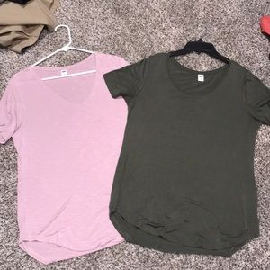 Lot of 2 Old Navy Luxe shirts